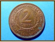 Британские Карибские территории 2 цента 1965 г.