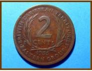 Британские Карибские территории 2 цента 1955 г.