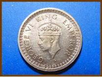 Индия 1/2 рупии 1945 г. Серебро