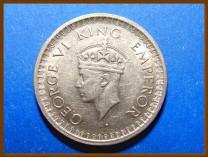 Индия 1/2 рупии 1944 г. Серебро