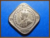 Индия 2 анны 1935 г.