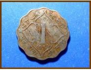 Индия 1 анна 1939 г.