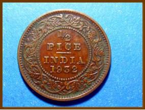 Индия 1/2 пайсы 1932 г.