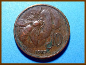 Италия 10 чентезимо 1923 г.