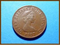 Джерси 1 пенни 1987 г.