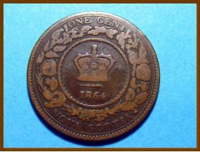 Канада Новая Шотландия 1 цент 1864 г.