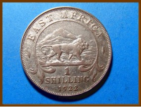 Восточная Африка 1 шиллинг 1922 г. Серебро