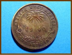 Британская Западная Африка 1 шиллинг 1940 г.