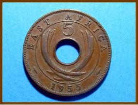 Восточная Африка 5 центов 1955 г.