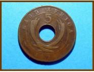 Восточная Африка 5 центов 1924 г.