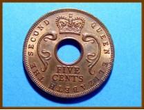 Восточная Африка 5 центов 1957 г.