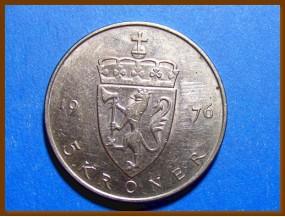 Монета Норвегия 5 крон 1976 г.
