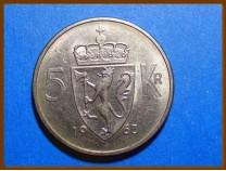 Монета Норвегия 5 крон 1963 г.