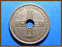 Монета Норвегия 1 крона 1949 г.
