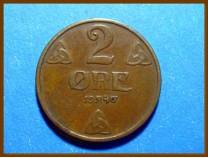 Монета Норвегия 2 эре 1940 г.