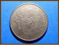 Монета Норвегия 1 крона 1972 г.