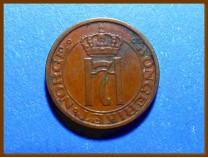 Монета Норвегия 1 эре 1951 г.