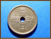 Монета Норвегия 25 эре 1924 г.