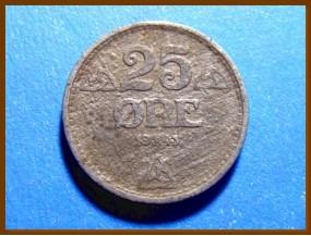 Монета Норвегия 25 эре 1943 г.