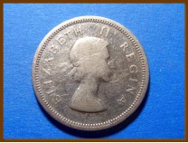 Южная Африка ЮАР 1 шиллинг 1956 г. Серебро