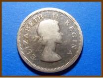 Южная Африка ЮАР 1 шиллинг 1954 г. Серебро
