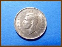 Южная Африка ЮАР 3 пенса 1945 г. Серебро