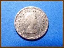 Южная Африка ЮАР 3 пенса 1954 г. Серебро
