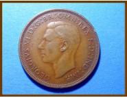 Великобритания 1 пенни 1938 г.
