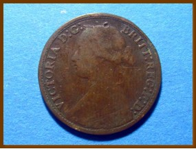 Великобритания фартинг 1865 г.