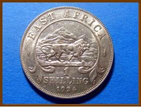 Восточная Африка 1 шиллинг 1924 г. Серебро