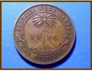 Британская Западная Африка 1 шиллинг 1939 г.