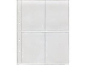 """Лист для хранения календарей или другого коллекционного материала. Стандарт """"OPTIMA"""". Размер 200х250 мм"""
