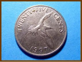 Бермуды 25 центов 1997 г.