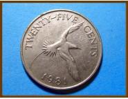 Бермуды 25 центов 1981 г.