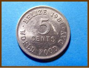 Белиз 5 центов 1981 г.