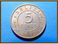 Белиз 5 центов 2003 г.