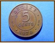 Белиз 5 центов 1974 г.