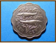 Багамские острова 10 центов 1985 г.