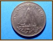 Багамские острова 25 центов 1991 г.