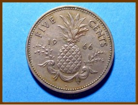 Багамские острова 5 центов 1966 г.