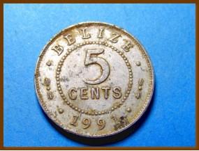 Белиз 5 центов 1991 г.