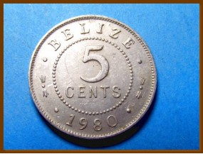Белиз 5 центов 1980 г.