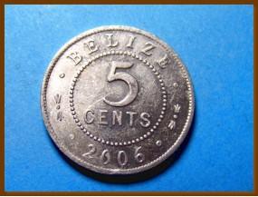 Белиз 5 центов 2006 г.