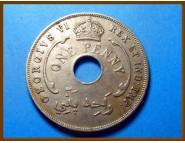 Британская Западная Африка 1 пенни 1942 г.