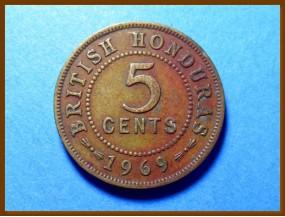 Британский Гондурас 5 центов 1969 г.