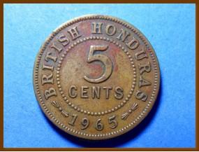 Британский Гондурас 5 центов 1965 г.