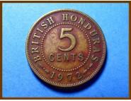 Британский Гондурас 5 центов 1972 г.
