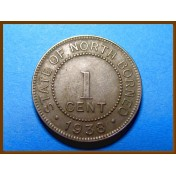 Британское Северное Борнео 1 цент 1938 г.
