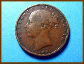 Великобритания фартинг 1851 г.