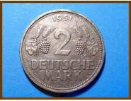Германия 2 марки 1951 г. F